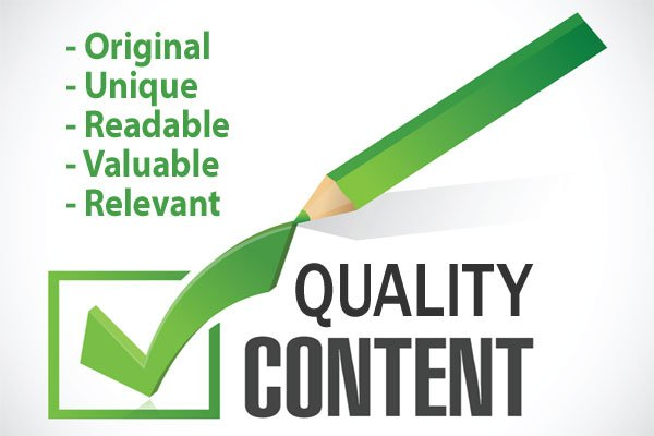 Illustration showing a Checklist for Quality Content