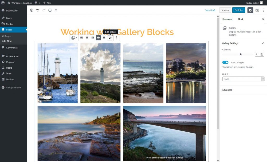 Our updated WordPress gallery block