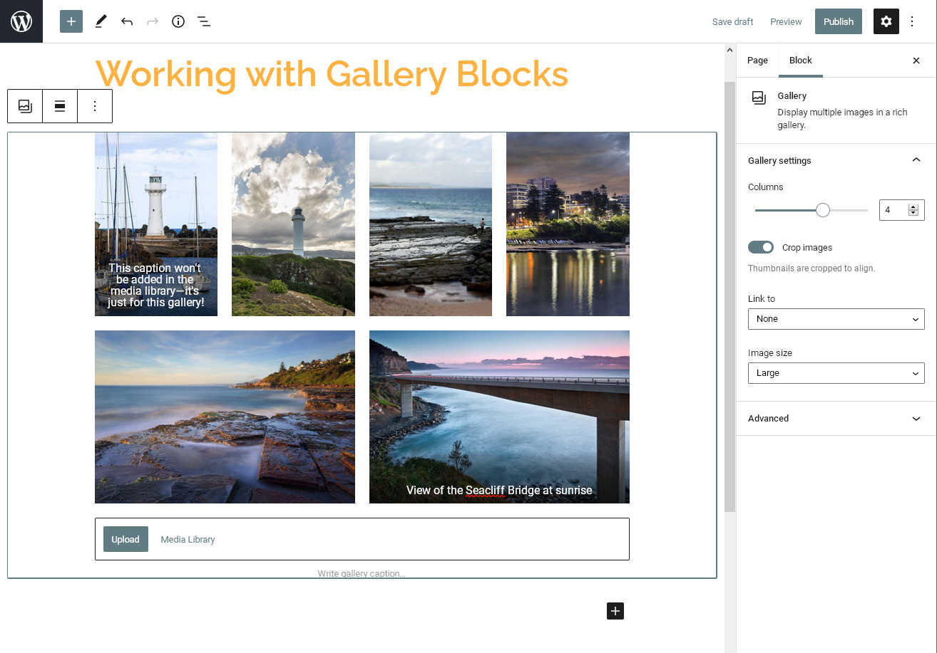 Our WordPress gallery block updated after adding new images